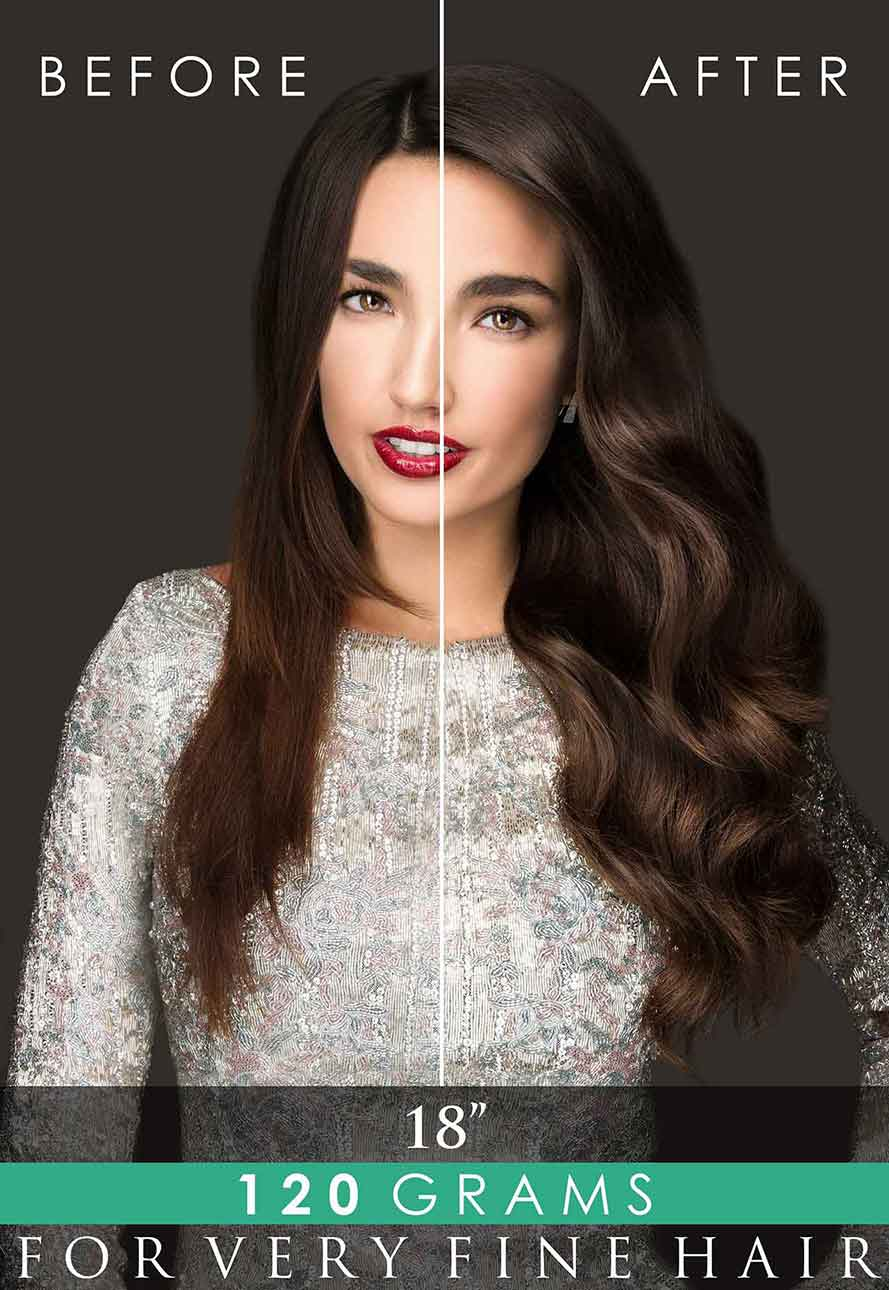 Invisi®-Clip-In hair extensions by Beauty Works.