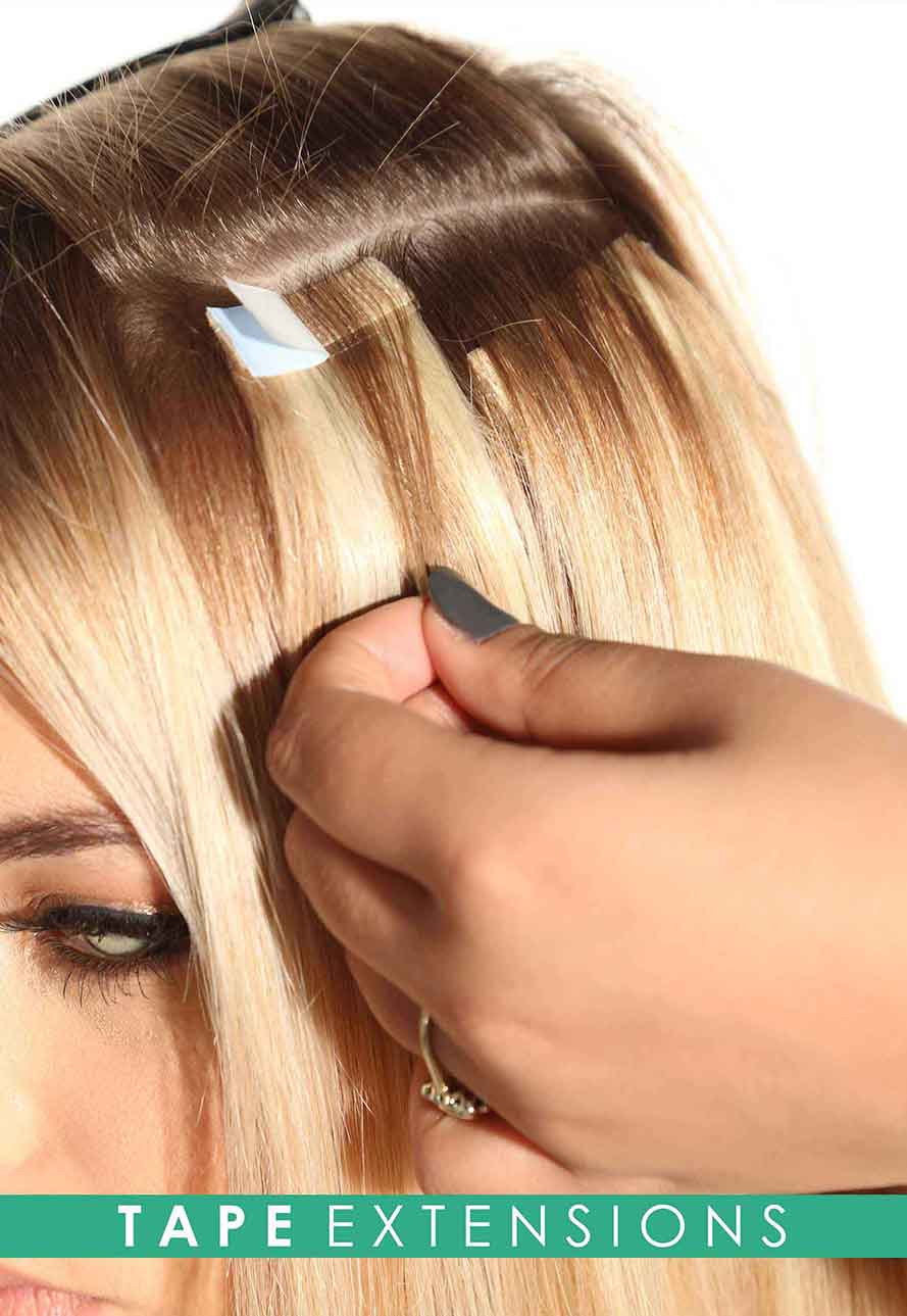Tape hair extensions by Beauty Works